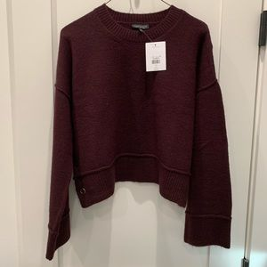 COPY - Crop Topshop sweater plum